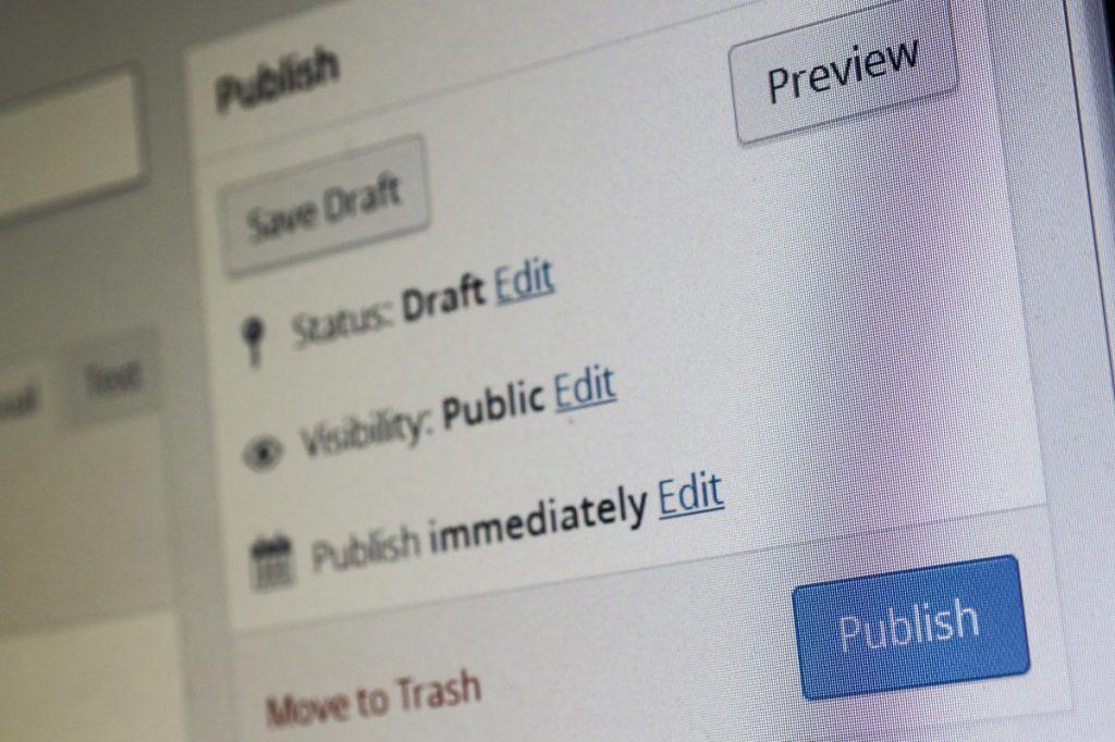 WordPress back-end
