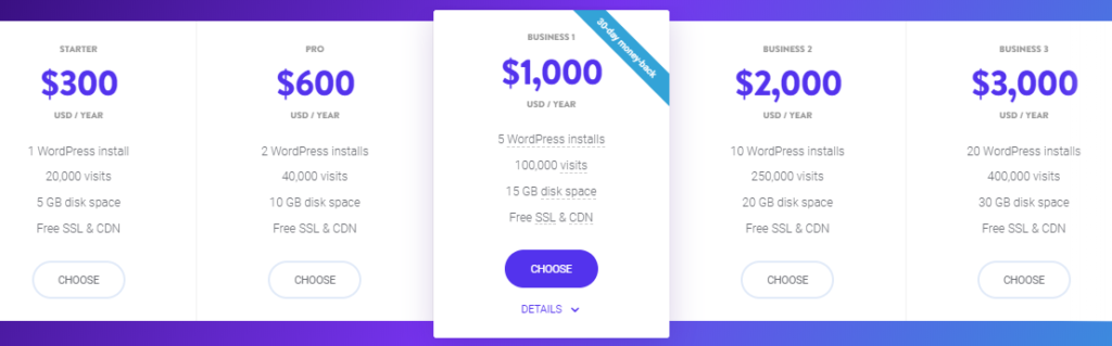 Kinsta pricing yearly